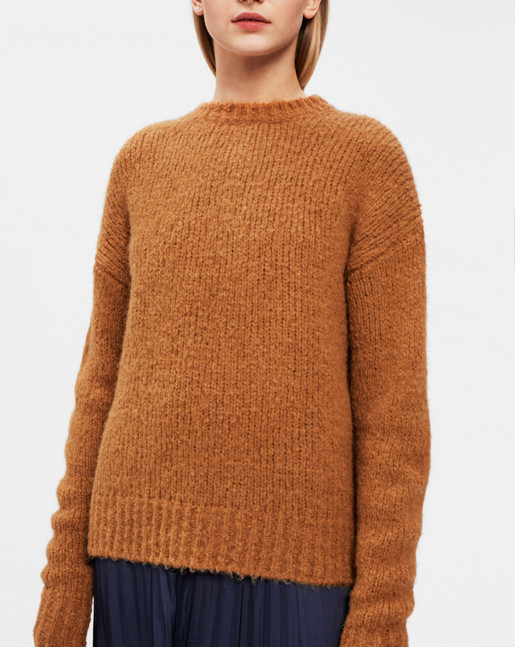 Structure R-neck Pullover Autumn