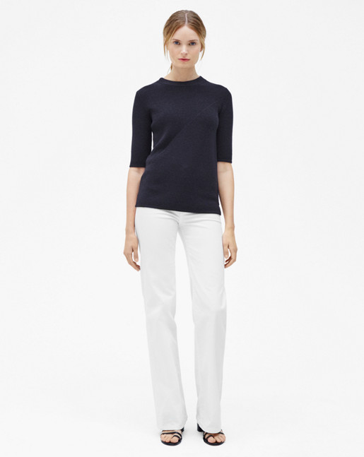 Wool/Cashmere Rib T-shirt Evening