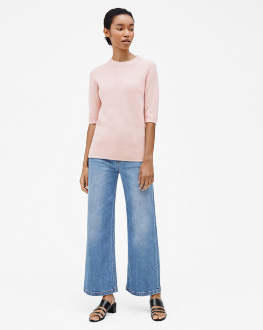 Wool/Cashmere Rib T-shirt Tearose