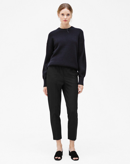 Wool/Cashmere Rib Pullover Evening