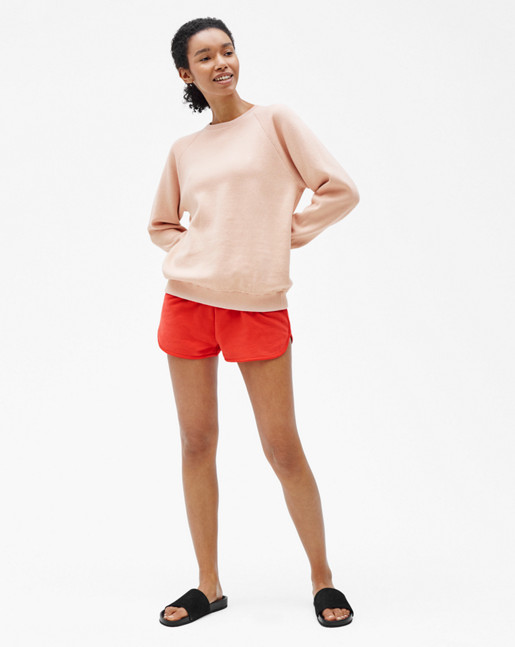 Doubleface Knit Sweater Blush