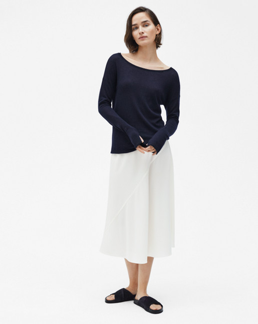 Cashair Boatneck Top Navy