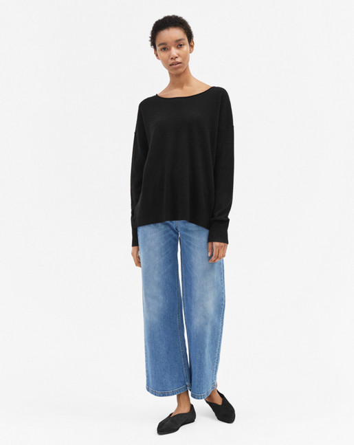 Relaxed Cashmere Sweater Black