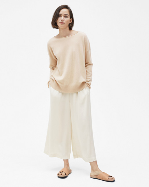 Relaxed Cashmere Sweater Bone