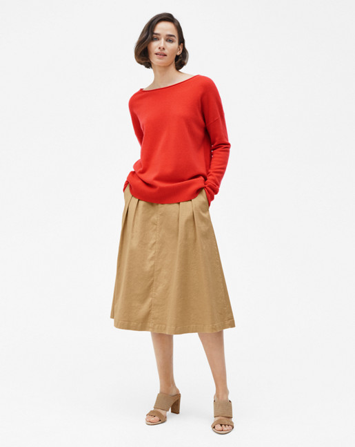 Relaxed Cashmere Sweater Poppy