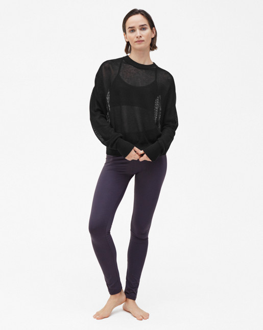 Mesh Knit Sweater Black