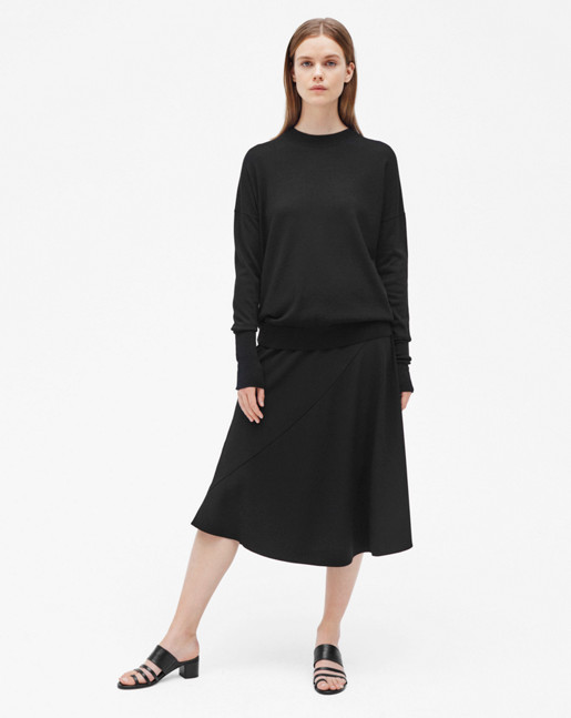 Relaxed Merino Sweater Black