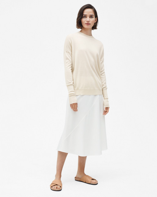 Relaxed Merino Sweater Bone
