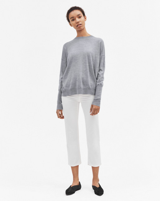 Relaxed Merino Sweater Light Grey