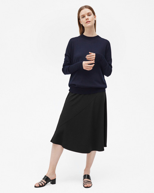 Relaxed Merino Sweater Navy