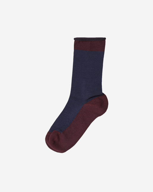 Sporty Silk Sock Navy