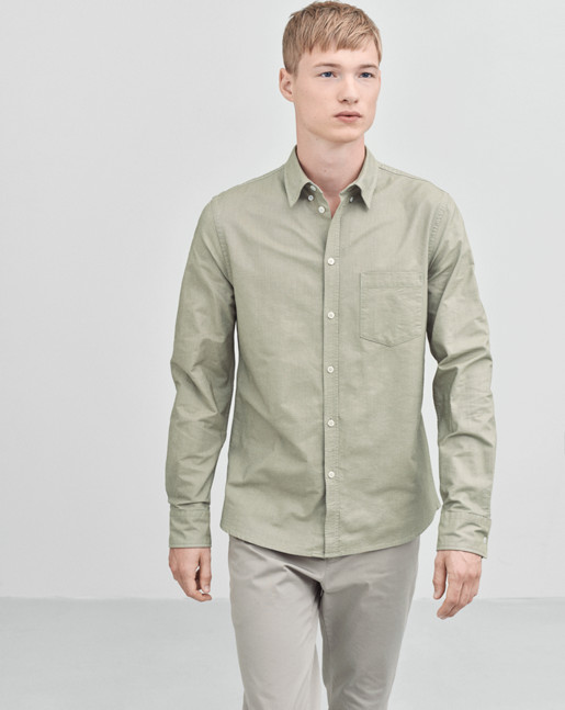 Paul Oxford Shirt Jade/white