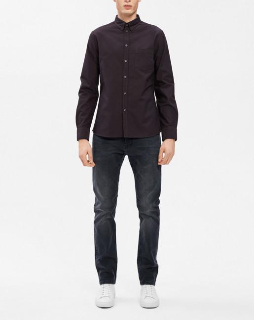 Paul Oxford Shirt Slate/Black