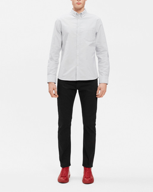 Paul Oxford Shirt White/Fog
