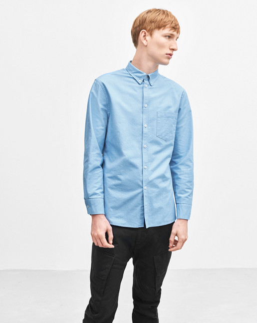 Paul Oxford Shirt Frost/White