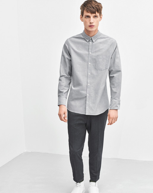 Paul Oxford Shirt White/Granite