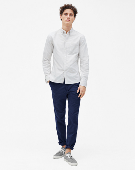 Paul Oxford Shirt Salt/Coin
