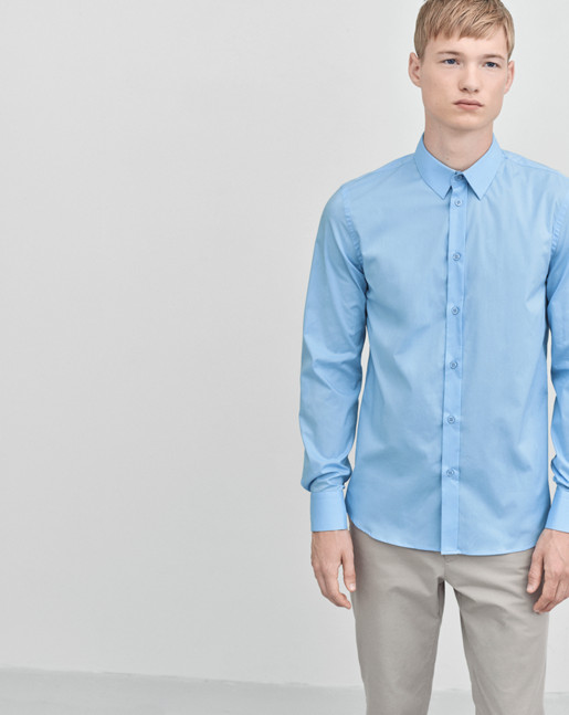 Paul Stretch Shirt Airblue