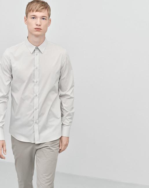 Paul Stretch Shirt Hintgrey