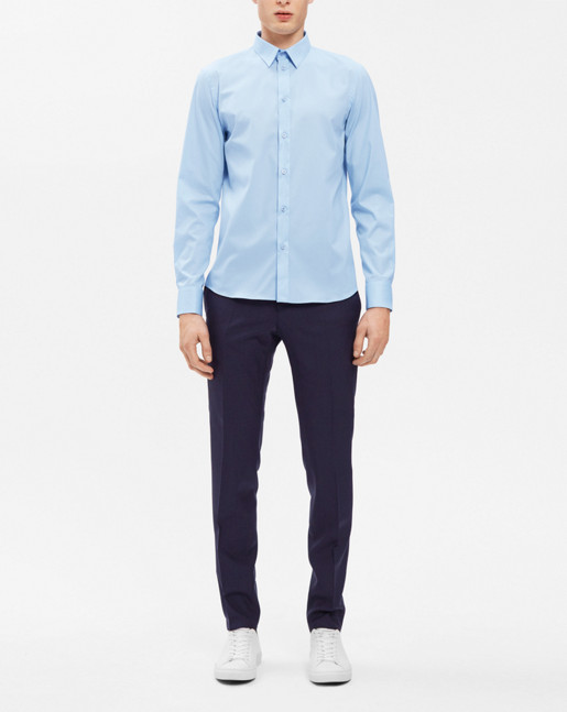 Paul Stretch Shirt Light Blue