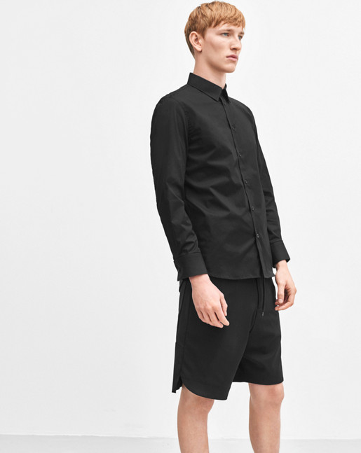 Paul Stretch Shirt Black