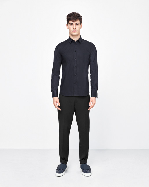 Paul Stretch Shirt Navy