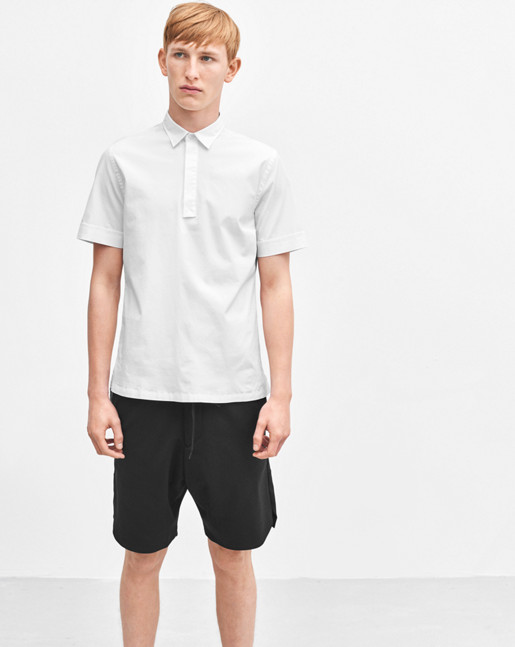 Peter Poplin Polo Shirt White