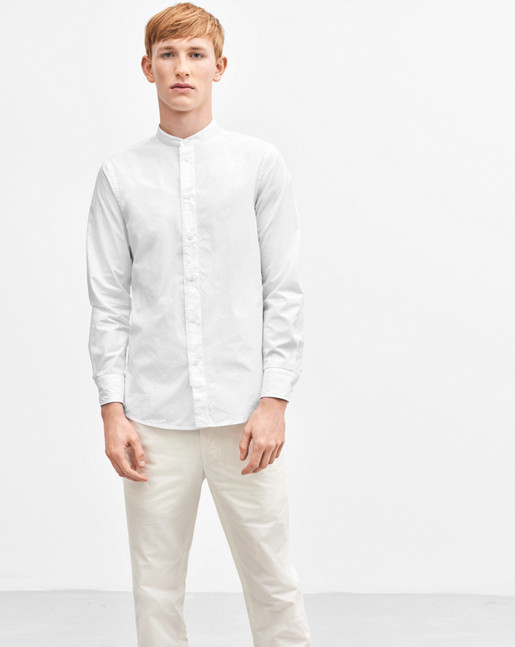 Pierre Washed Poplin Shirt White