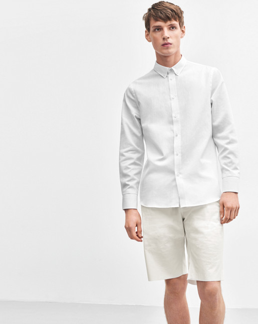 Pierre Linen Shirt White