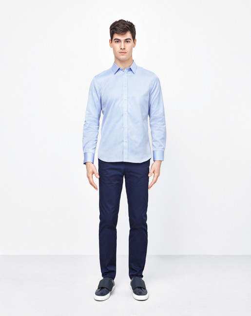 Pierre Twill Shirt Air Blue