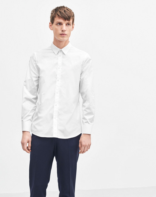 Pierre Twill Shirt White