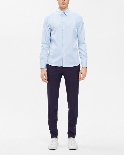 Pierre Twill Shirt Light Blue