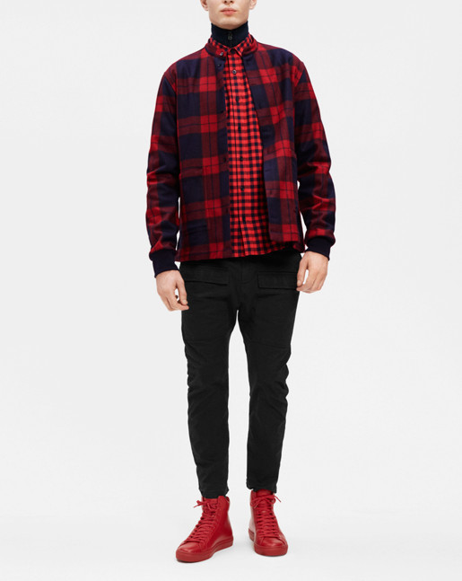 Lavy Check Overshirt Navy/Fierce Check