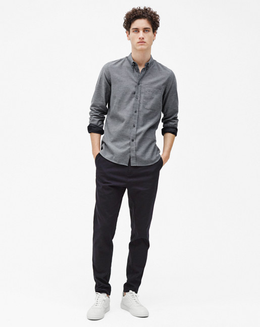 Pierre Flannel Shirt Grey Mel