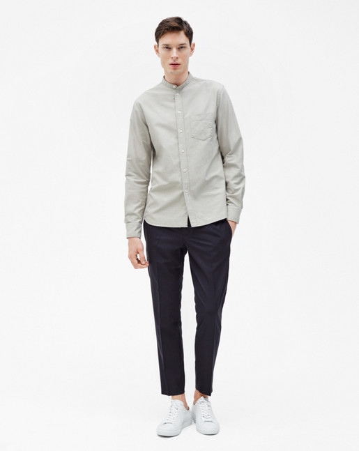 Pierre CL Oxford Shirt Coin/Olive