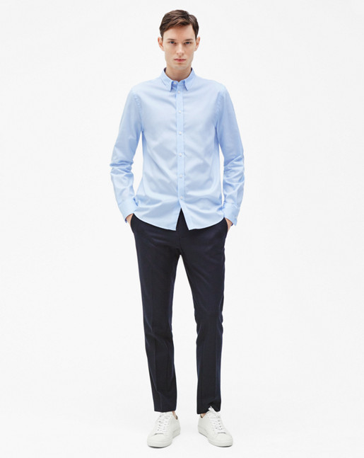 Pierre Light Oxford Shirt Skyway