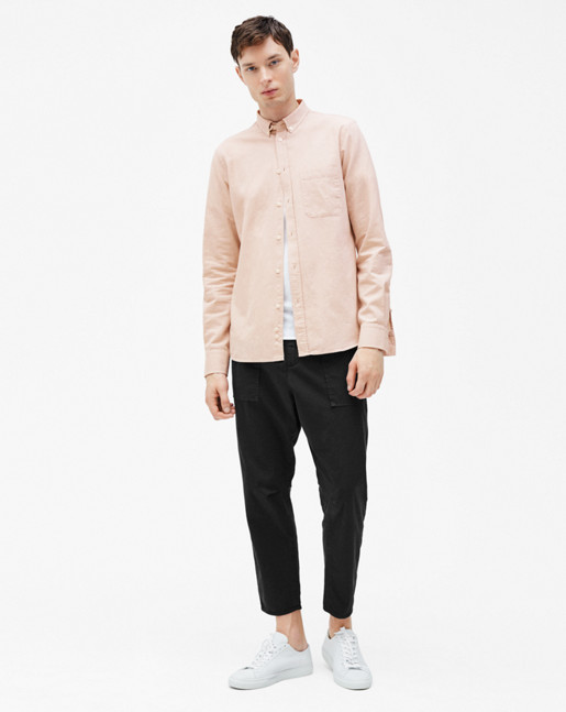 Peter Washed Poplin Shirt Dusty Pink