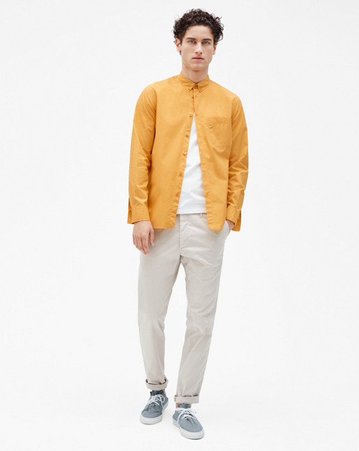 Peter Washed Poplin Shirt Honey