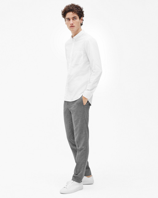 Peter Washed Poplin Shirt White