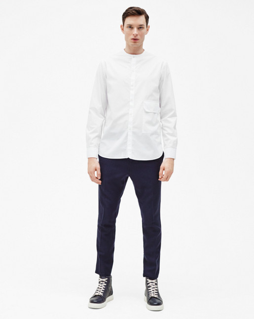 Peter Washed Pocket Shirt White