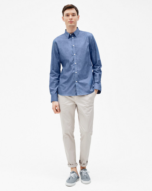 Pierre Chambray Shirt Pacific