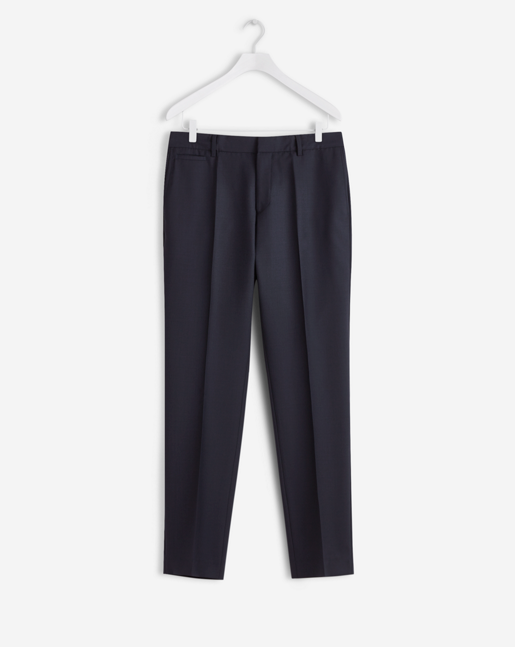 Christian Cool Wool Slacks Dark Navy