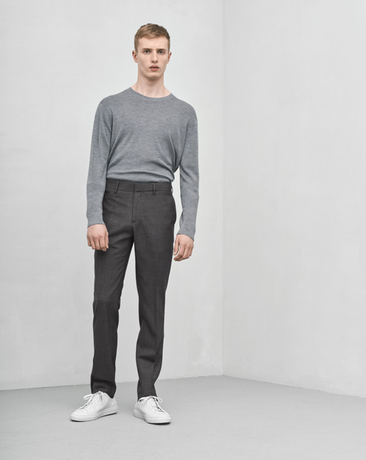 Christian Cool Wool Slacks Grey Mel
