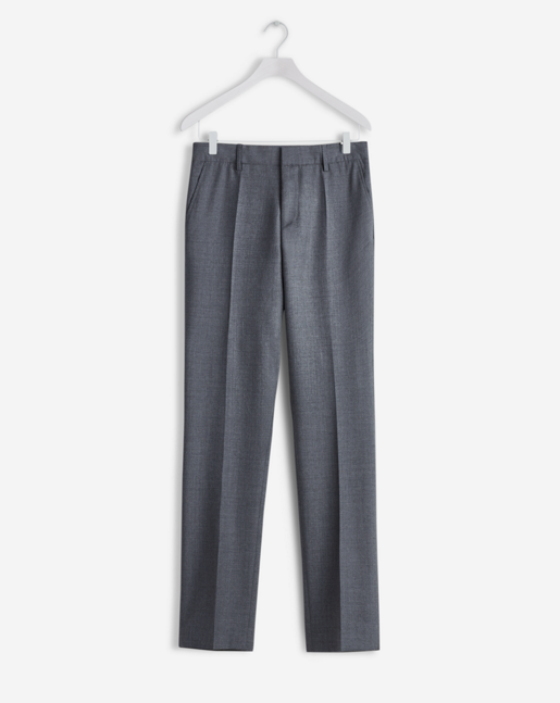 Liam Cool Wool Slacks Grey Mel.