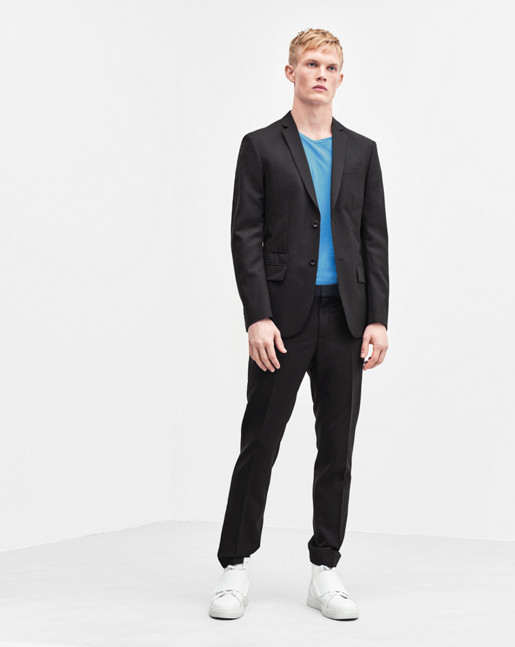 Liam Cool Wool Slacks Black