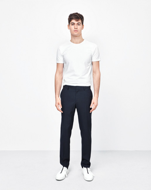 Liam Cool Wool Slacks Dark Navy