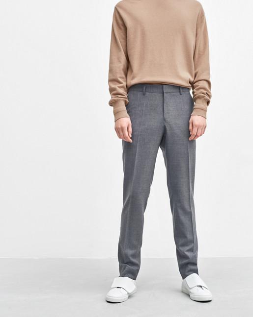 Liam Cool Wool Slacks Grey Melange