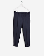 Terry Gabardine Cropped Navy