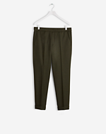 Terry Gabardine Cropped Pants Airforce