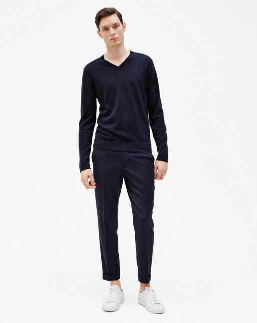 Terry Gabardine Cropped Trousers Hope